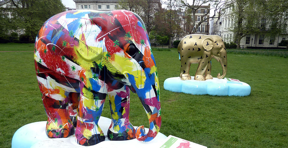 Sunday May 9th (2010) elephants in green park