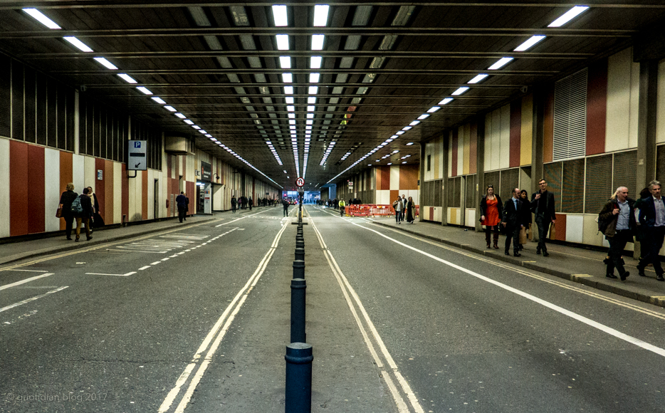 Thursday March 16th (2017) the barbican tunnel