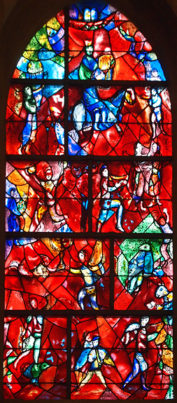 Monday November 7th (2011) stained glass by chagall
