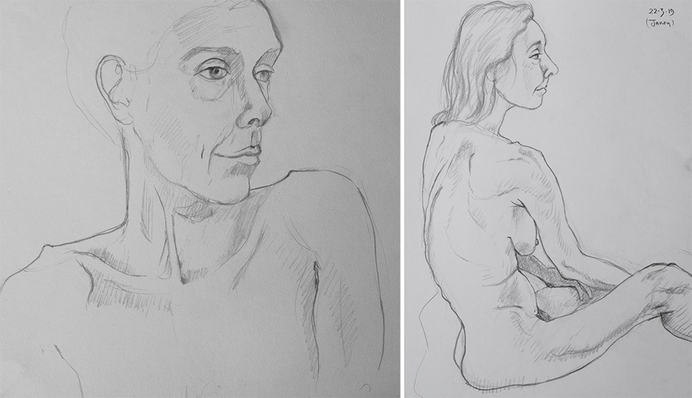 Friday March 22nd (2019) life drawing friday