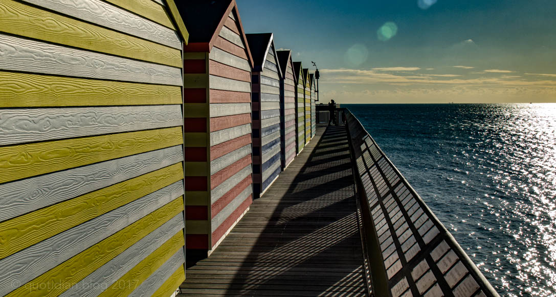 Saturday December 9th (2017) huts, pier, sea