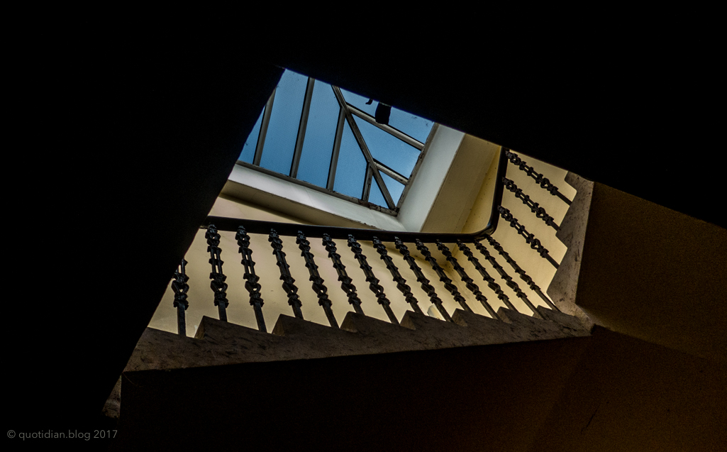 Tuesday September 12th (2017) looking up a stairwell