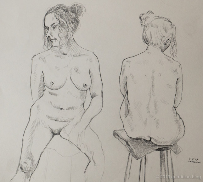 Friday March 1st (2019) life drawing friday