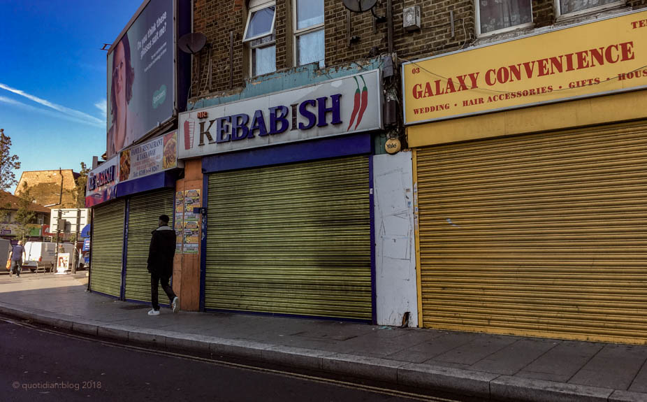 Tuesday October 16th (2018) shuttered south london