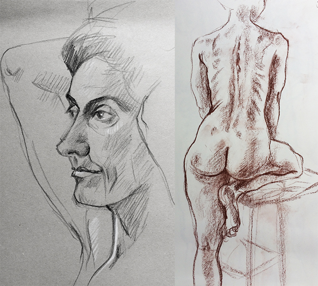 Friday September 8th (2017) life drawing new term