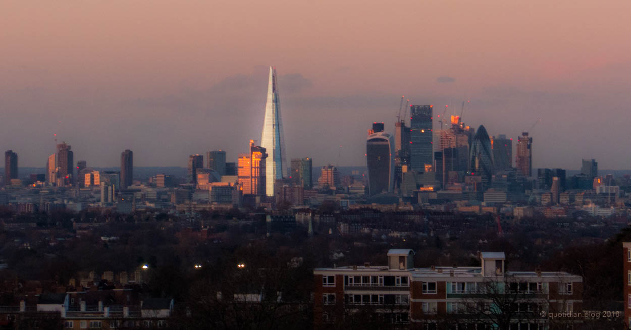 Saturday February 3rd (2018) sunset over london