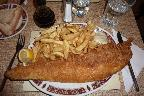20th: large cod and chips