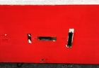 discarded red door
