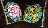 12th: tapestry cushions